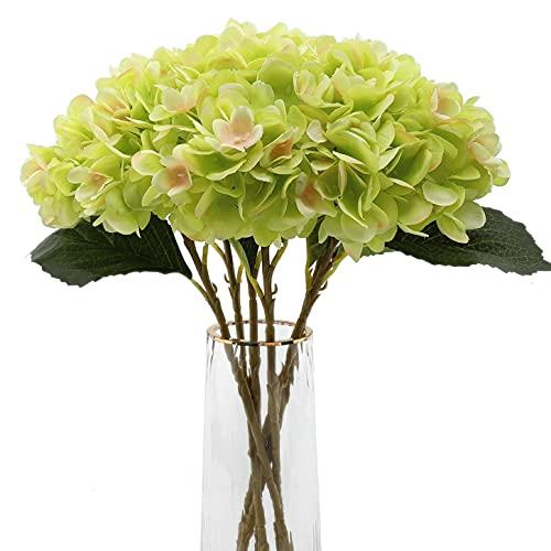 Decpro 6 Piezas de hortensias Artificiales, 18,9'' de Flores de Seda de hortensias de un...