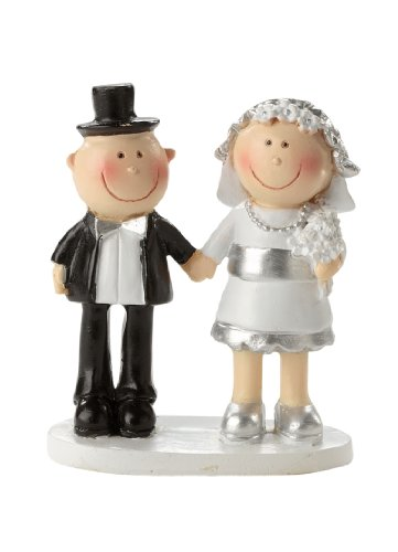 De plata de boda * Diseño * Figura de novios para tarta * Mesa