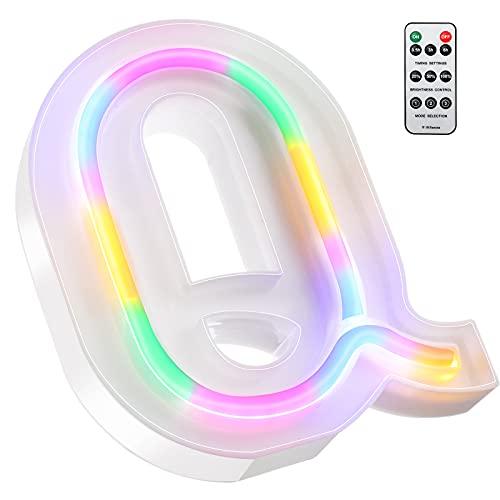 Letras para Decorar Bodas Neon 16 cm