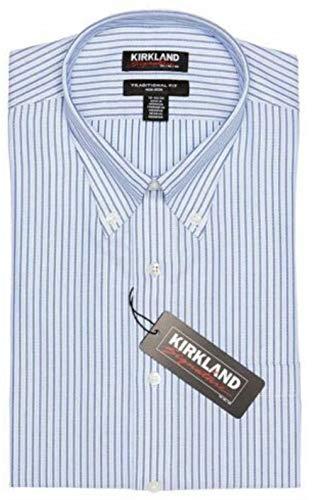 Kirkland Signature Camisa de vestir para hombre, ajuste tradicional, no necesita...
