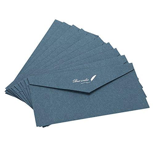 Lote de 10 sobres de invitación multicolor para boda, cumpleaños, fiestas, sobre...