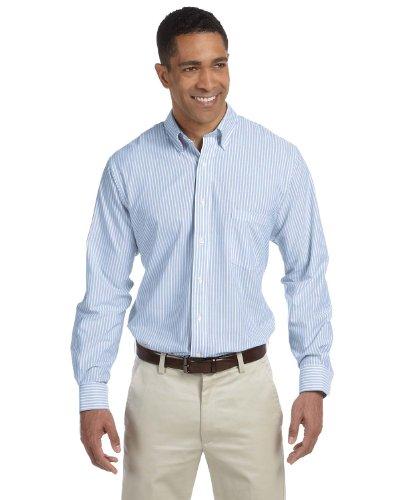 Van Heusen Camisa Oxford para hombre, sin arrugas, rayas azules, XXXL