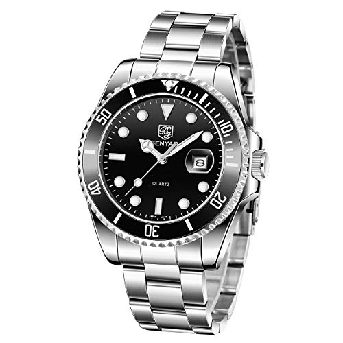 Relojes Hombre Relojes de Pulsera Acero Inoxidable Impermeable Diseño de Negocios...