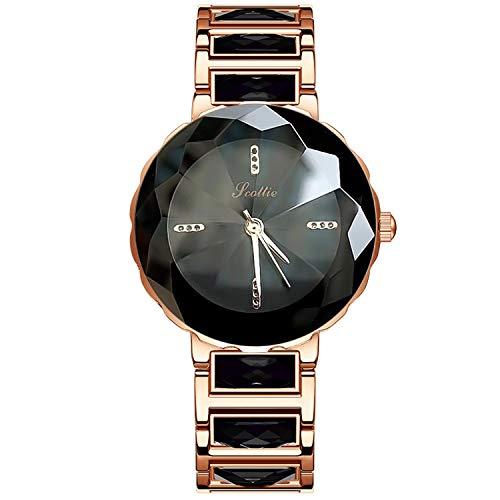RORIOS Elegante Moda Mujer Relojes de Pulsera Acero Inoxidable Band Relojes de Mujer