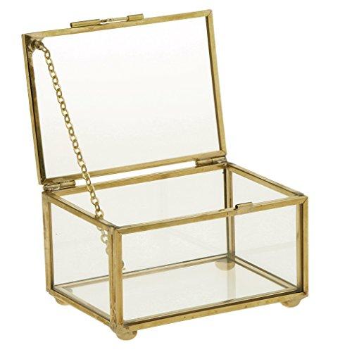 Sharplace Caja Envase Geométrico Terrario Envase Claro de Cristal para Joya Deoración de...