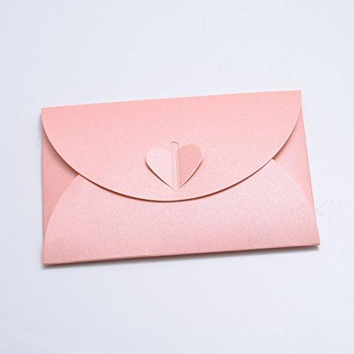 Paper24 - Sobres con forma de corazón (10 unidades, cartón perlado, C6 = 162 x 114 mm),...