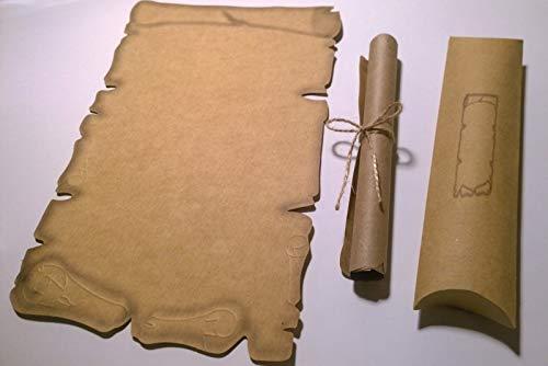 35 rollos de papel de caligrafía + 35 cajas de cojín, papel de pergamino medieval, para...