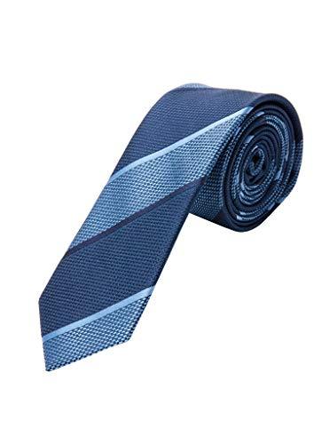 s.Oliver 02.899.91.7062 Krawatte Corbata, Azul (Blue Stripes 58g2), Talla Única (talla...