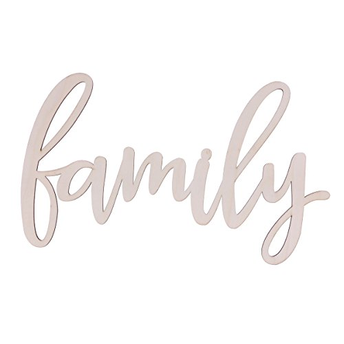 WINOMO Familia Placa de Madera Decoración del hogar 30.5x18x0.4cm