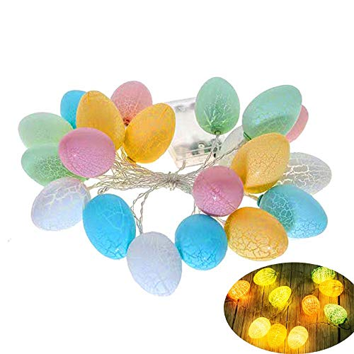 3 metros de largo 20 luces LED, guirnalda de huevos de Pascua, luces de decoración de la...