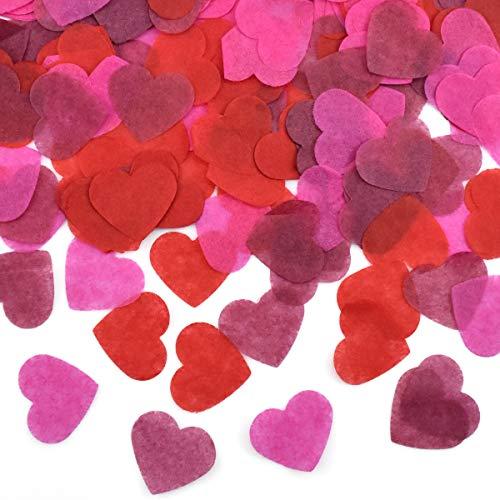 HQdeal 6000 Piezas de Confeti de Corazón, Multicolor Confeti de Papel, Confeti de Mesa...