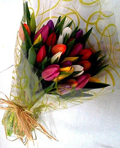 Ramo 30 Tulipanes Naturales Variados para Regalar. PORTES GRATIS