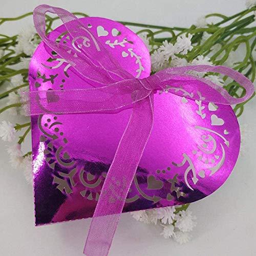 YXCUIDP 10/50 Piezas de la Caja de Caramelo en Forma de corazón Caja de grageas...