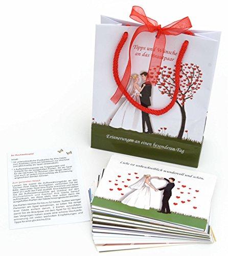 Juego de 52 tarjetas postales (diferentes) para los invitados para rellenar con consejos,...