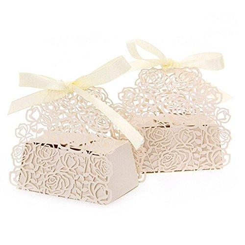 lavinaya 5roses Flores Boda Candy Caja Chocolate Candy Soportes Bomboniere – Recuerdo de...