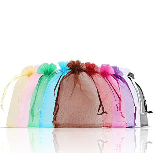 Bolsa para joyas Naler de organza, saquito para regalo, multicolor, 10*15 cm