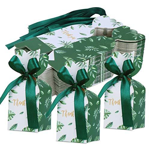 TsunNee 50 cajas de caramelos de papel, cajas de recuerdos de boda Mori, caja de regalo...