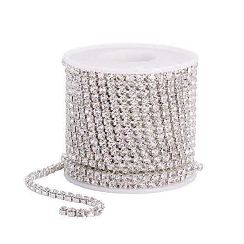 ULTNICE Cinta de strass para joyas, costura, artesanía, bricolaje, decoración de boda,...