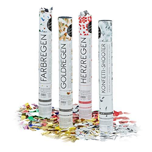 Relaxdays – Conjunto de 20 cañones de Confeti XL, cañón Confeti para Bodas y...