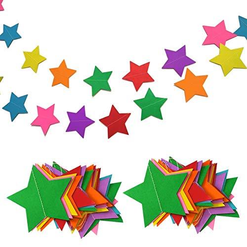 hangnuo 13m estrellas guirnalda de papel para boda cumpleaños aniversario parte las...