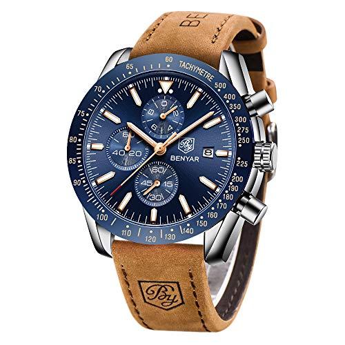 BENYAR Relojes Hombre Relojes de Pulsera Cronografo Diseñador Impermeable Reloj Hombre...