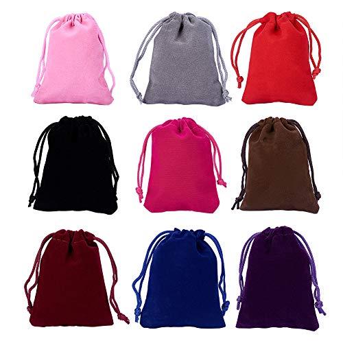 NBEADS 18 Piezas 9 Color Bolsas de Terciopelo, 9x7cm Regalo de Terciopelo Pequeñas Bolsas...