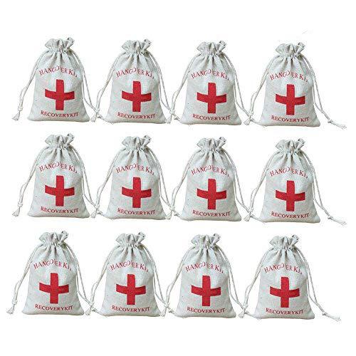 AmaJOY Bolsas de regalo para boda hechas de algodón con cuerda de muselina, con diseño...