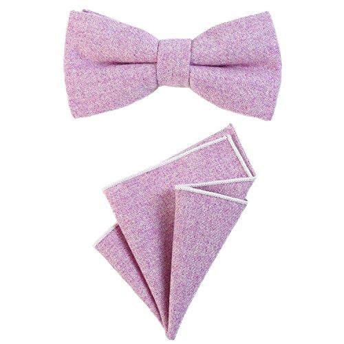 DonDon Pajarita para caballero 12 x 6 cm, atada y de tamaño ajustable, y pañuelo de...