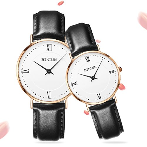 BINLUN Relojes Mujer Hombre Reloj de Pulsera Impermeable de Cuarzo con Pantalla Analógica...