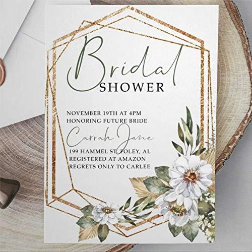 Greenery invitación de fiesta de boda, invitación de despedida de soltera, invitación...
