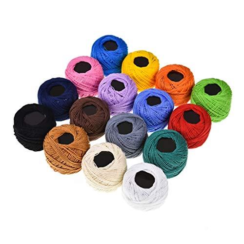 SUPVOX 16 colores de hilo de bordar hilo de punto de cruz pulseras de amistad hilo de seda...