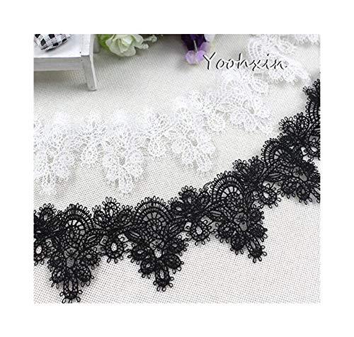 Zhi Zhi 6,5 cm de Ancho de algodón Tela de Cinta de Encaje Bordado Ajuste de Cuello de...