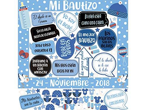 Photocall Mi Bautizo Atrezzos Personalizado Eventos o Celebraciones puntuales   Medidas...