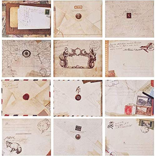Envelope Vintage, 60 Pcs Mini Sobres Kraft, Sobres Vintage, Sobres Retro, Sobres Mini...