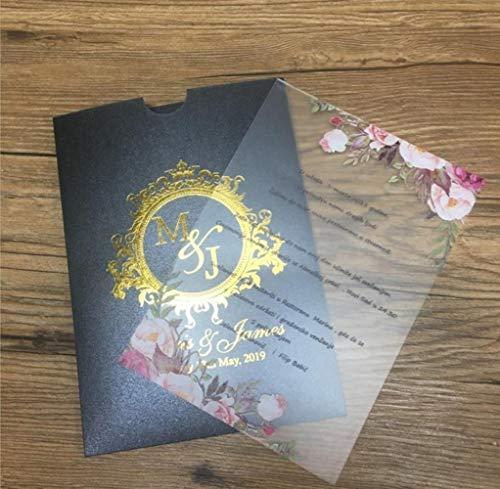Tarjeta De Felicitación Sobre Blanco Tarjeta De Invitación Boda Invitación Floral...