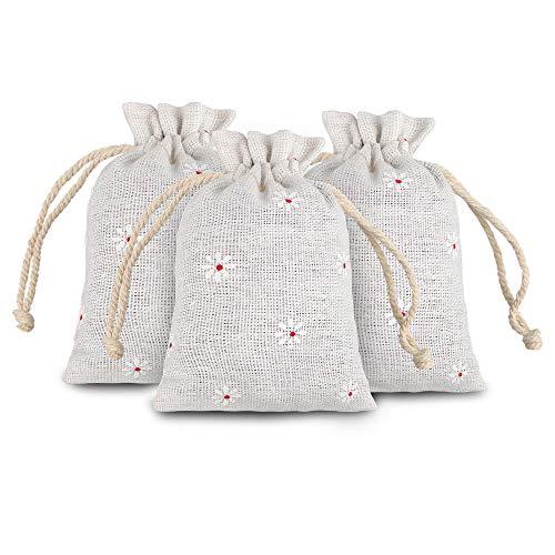 20 piezas Bolsas de Arpillera con cordón 12 x 9 cm Bolsas de Yute para Regalos Boda Favor...