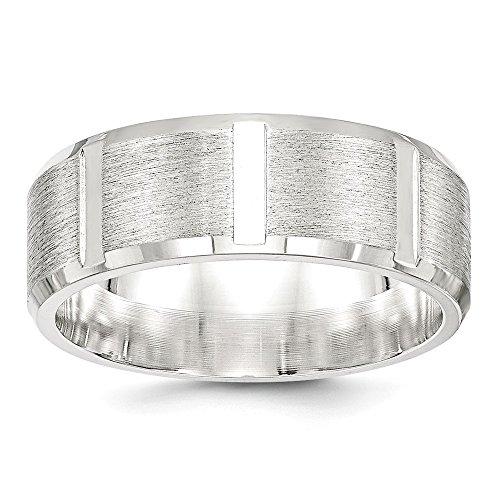 Diamond2Deal - Alianza de Boda para Mujer, Plata de Ley 925, 8 mm, cepillada, tamaño 11,5