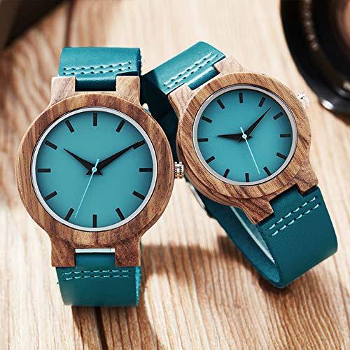 Reloj de madera creativo Hombres Mujeres Relojes de madera Reloj de pareja Reloj de...