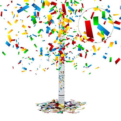 Relaxdays Cañón de Confeti, Altura de 6-8 m, Decoración para Bodas, Multi-Color, 80 cm,...