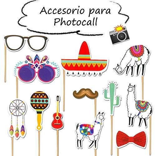 Starplast Accesorios para Photocall, Camera Props, 12 Piezas, para Bodas, Cumpleaños,...