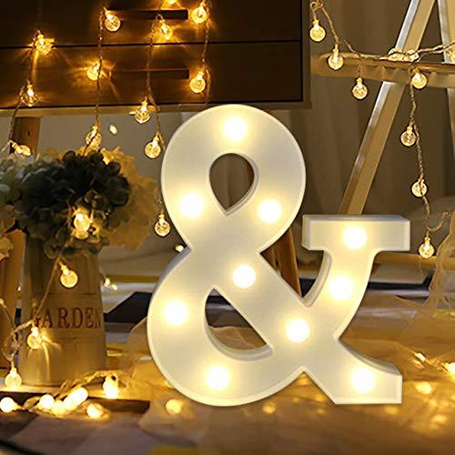 Letras Luminosas Decorativas con Luces LED, XVZ Luces LED de letras y números con...