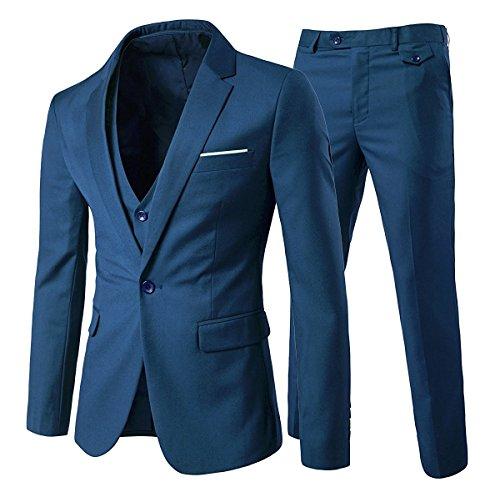 Cloudstyle Traje Suit Hombre 3 Piezas Chaqueta Chaleco pantalón Traje al Estilo...