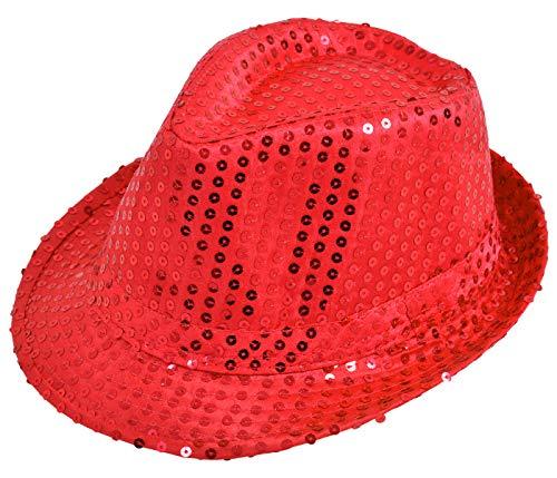 Alsino - Sombrero de lentejuelas brillantes, ideal para discoteca y fiesta