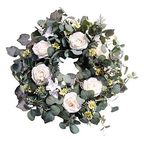 FLAMEER 22 ''guirnalda de primavera Artificial guirnalda de flores blancas para la pared...