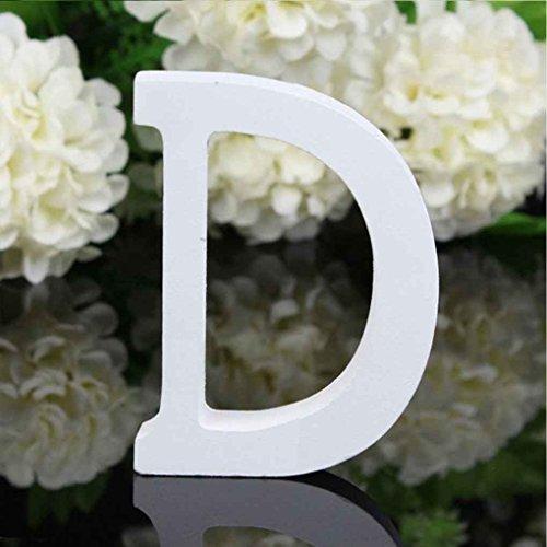 Letras Decorativas Baratas Madera Blanca 8 cm