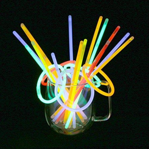 Vicloon 100 Pcs Barras Luminosas,Pulseras Fluorescentes Tubos Luminosos,Pulseras Luminosas...