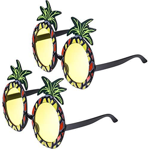 Blulu 2 Pares de Gafas de Piña Gafas de Fiesta en Forma de Piña Gafas de Sol Tropicales...