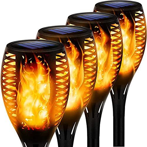 Swonuk Llama Solar Luces, Luces Solares Al Aire Libre, Parpadeo Solar Bailando Luces de la...