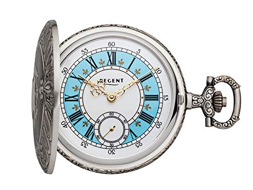 REGENT Reloj de bolsillo analógico con cuerda manual P-188