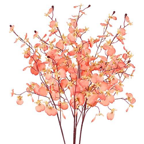 XHXSTORE 4pcs Tallo Flores Artificiales 80cm Flor Orquidea Artificial Jazmin Flores...
